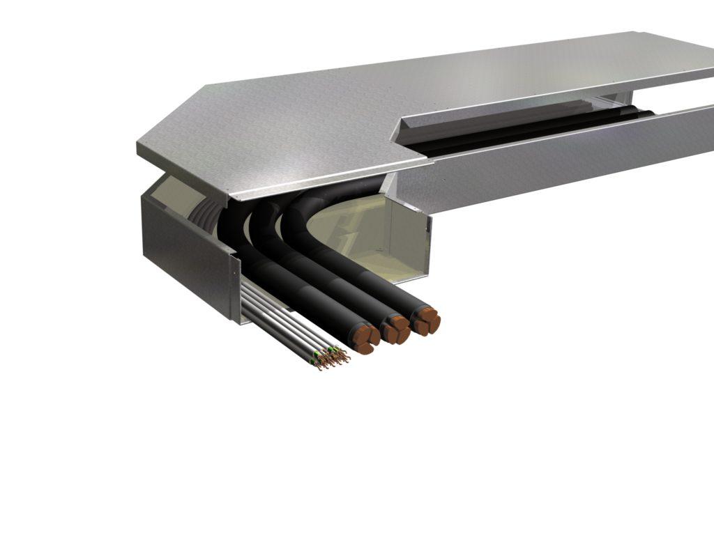 GH PYROMENT IK 90® Typ BD Flachwinkel 400x120 mit Kabeln