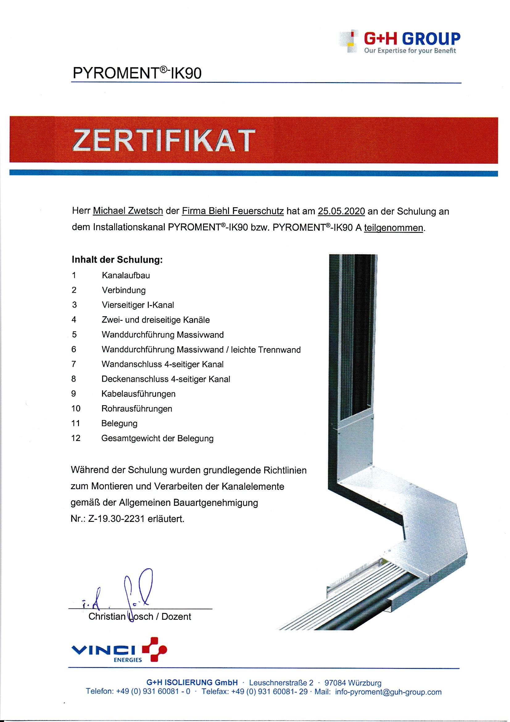 GH Zertifikate Seite 1