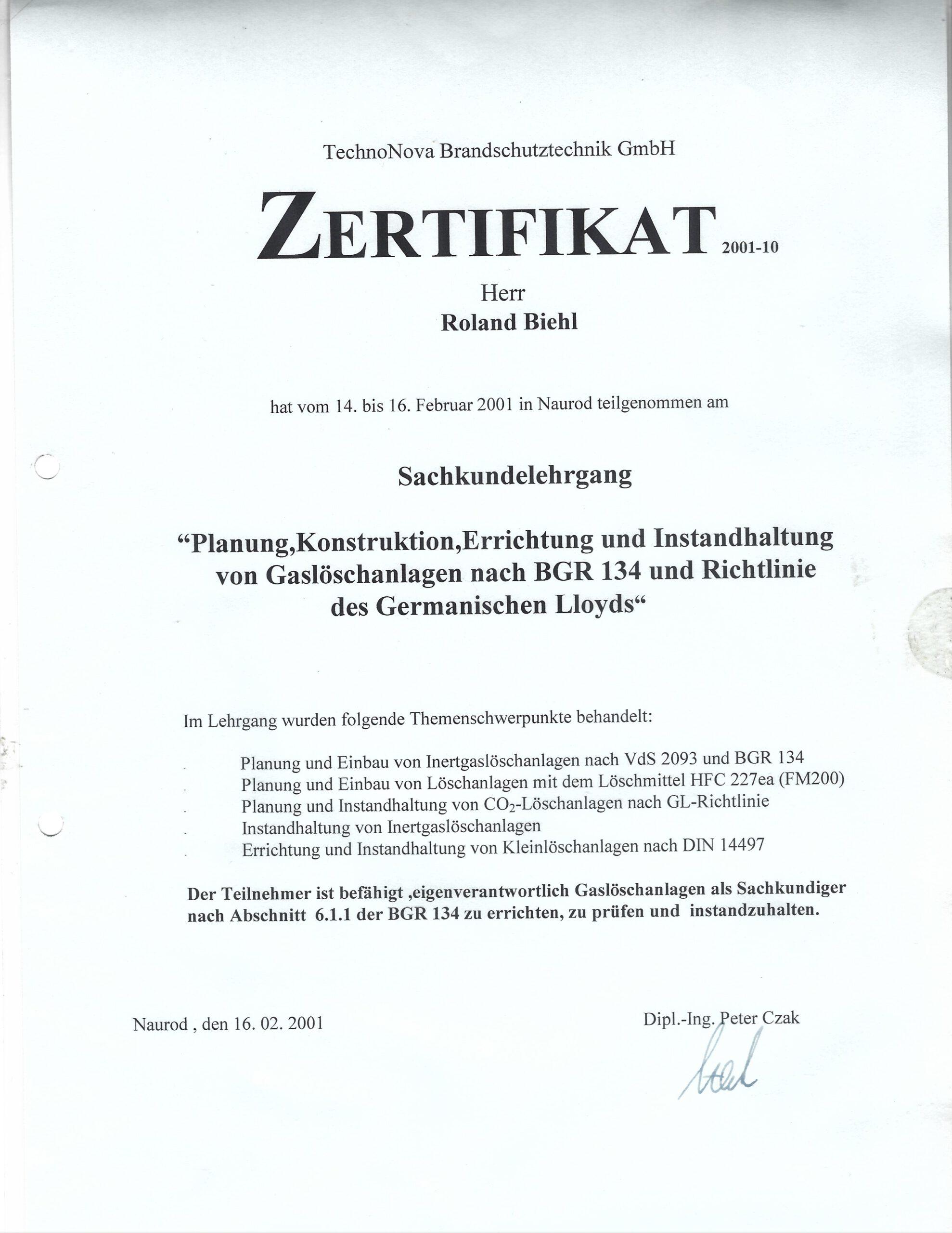 Zertifikat Roland fuer Loeschanlagen scaled